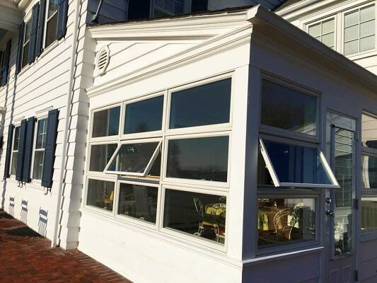 old awning windows with poor design