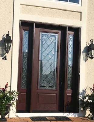 after image of vincentown home with new fiberglass entry door