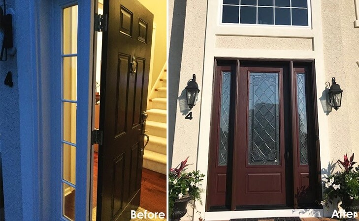 New Fiberglass Entry Door Makes Statement in Vincentown Home