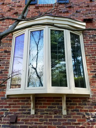 bay window on brick home