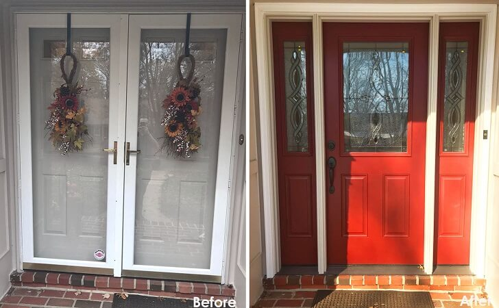 Before and After: Improved Functionality After Entry Door Replacement