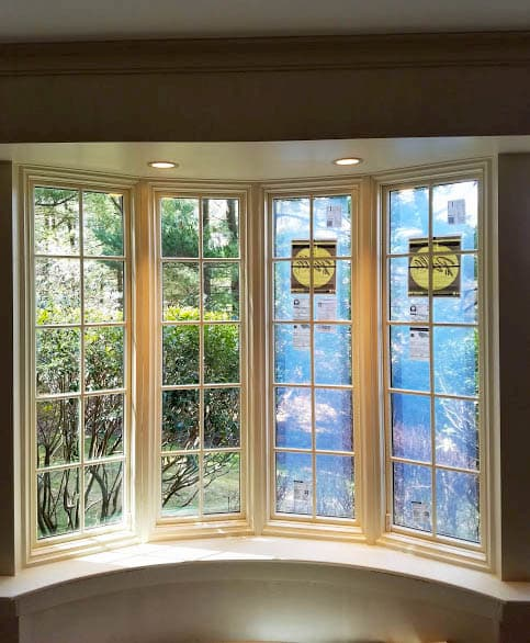 Pella wood bow windows