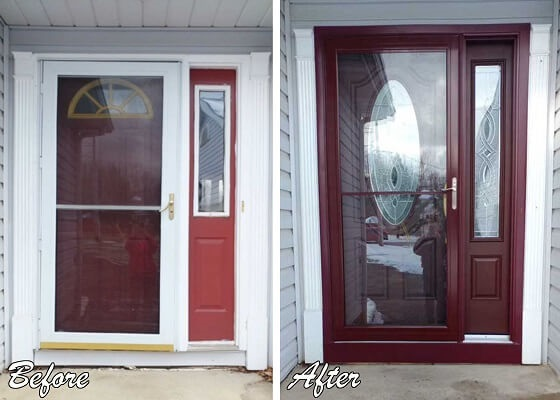 exterior view of entry door replacement