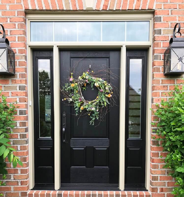New Fiberglass Entry Door Updates Aesthetic of York Home