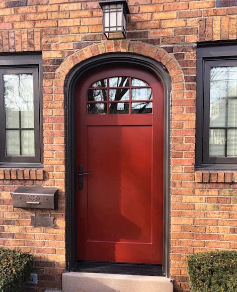 red entry door