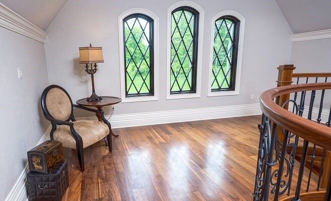 custom wood windows with grilles