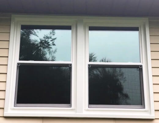 pittsburgh home after new wood double-hung and casement windows were installed