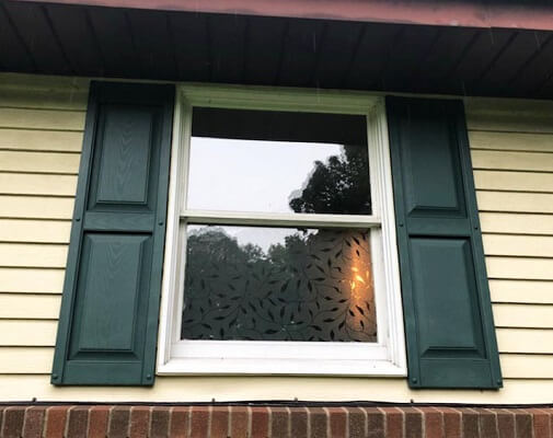 before image of pittsburgh home new wood double-hung and casement windows