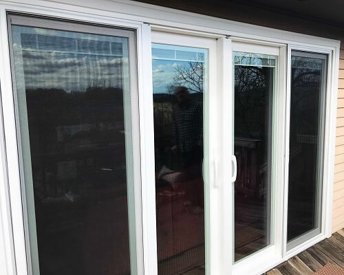 exterior of sliding patio door in Pittsburgh