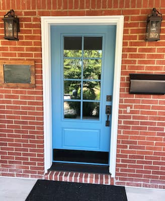 blue entry door