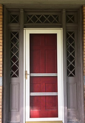 before picture of pittsburgh home entry door