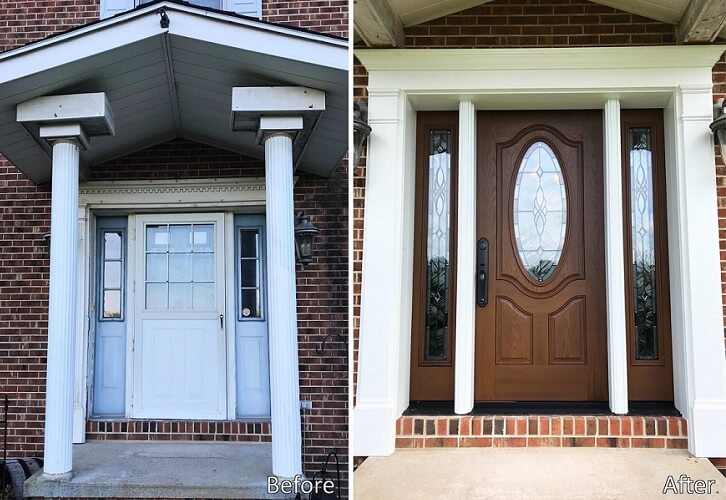 New Fiberglass Entry Door Transforms Warrendale Entry Way