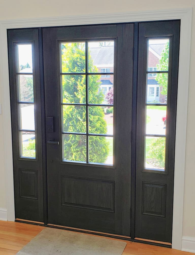New fiberglass entry door system with sidelights