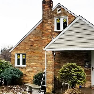 south hills home gets new wood casement windows