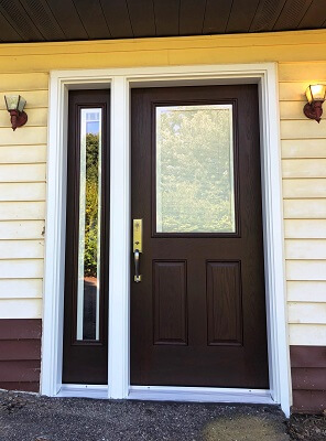 after image of south hills home with new fiberglass entry door