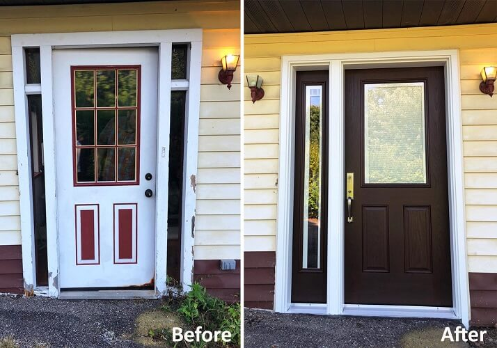 Before and After: Front Entry Door Transformation in South Hills