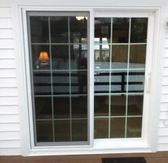 after image of state college home with new sliding patio door
