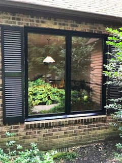 black casement windows
