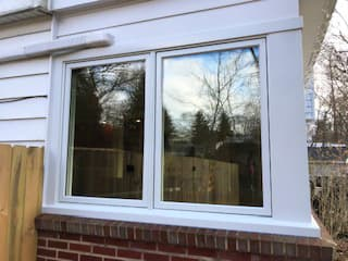 state college home - side windows - before
