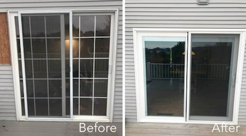 Sliding Glass Door and Double-Hung Replacement Upgrades Patio