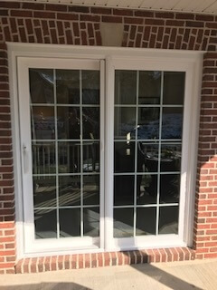 after image of patio door on state college home with new vinyl windows and patio door