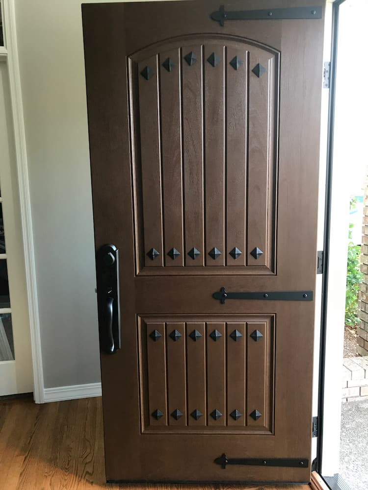 seattle home gets new entry door installed