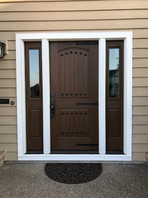 Portland Home Upgrades Entryway With a Beautiful Mahogany Fiberglass Entry Door