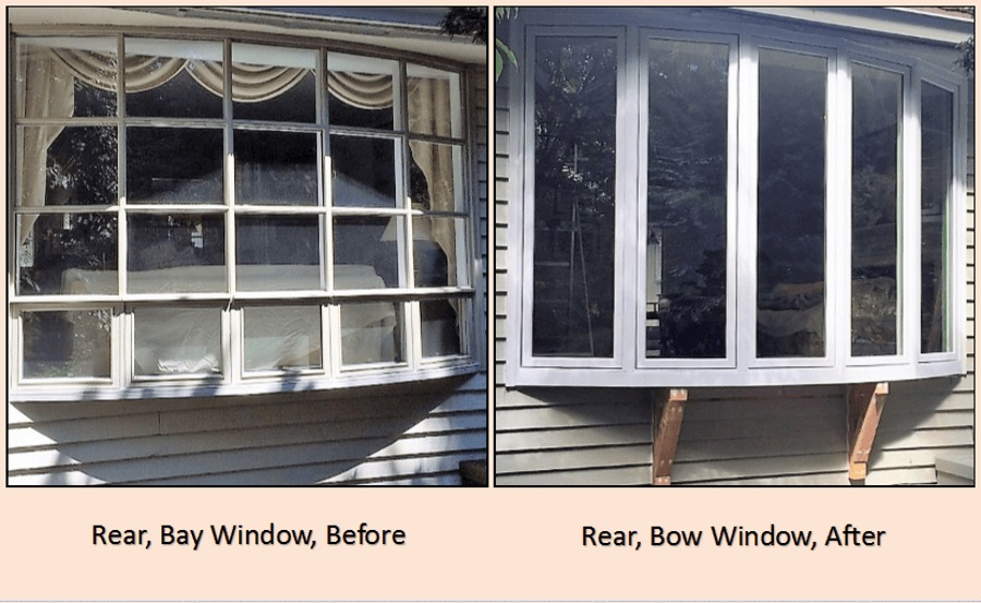 bay window to bow window before and after