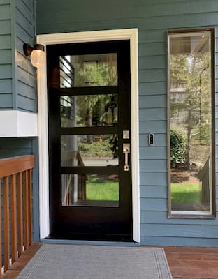 New Contemporary Entry Door Helps Sell Bothell Home