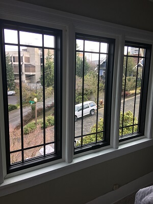 inside view of tacoma home with new fiberglass casement windows