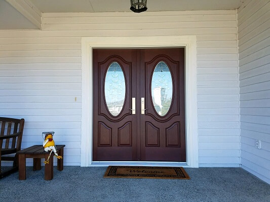 New Fiberglass Double Entry Door For Seattle Home