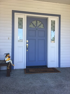 before image of seattle home with new fiberglass double entry door
