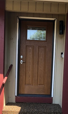 Fiberglass Entry Door Replacement in Puyallup Home