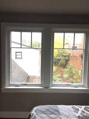 casement window in seattle home with new wood windows