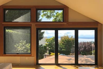 New Windows & Bifold Patio Door Open Up Seattle Home