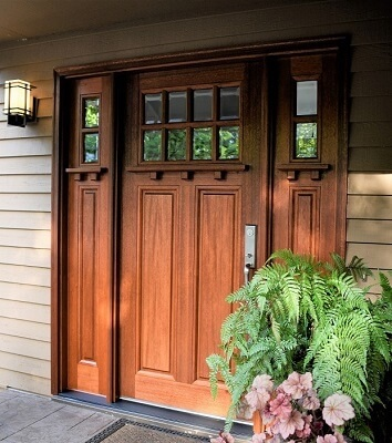 new wood entry door