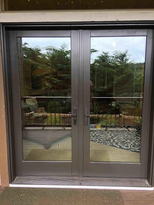 Wood patio door replacement