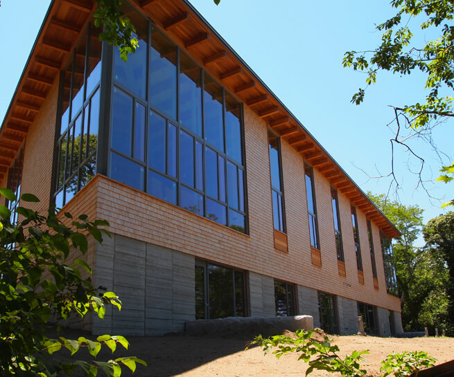 Architect Series Contemporary windows on Eastham Public Libary