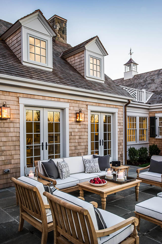 Patio space on the 2015 HGTV Dream Home in Martha's Vineyard