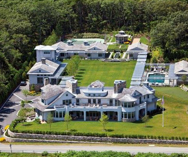 Aerial view of Martha's Vineyard house