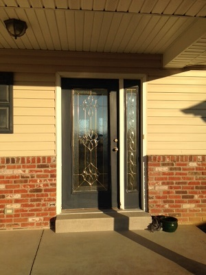 before image of st louis home entry door before getting new fiberglass entry door