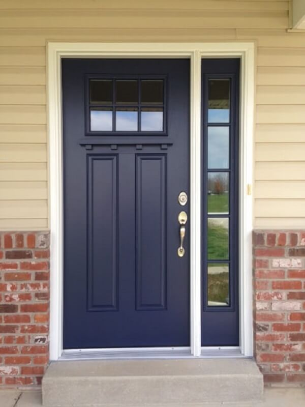 Fiberglass Entry Door Provides Privacy