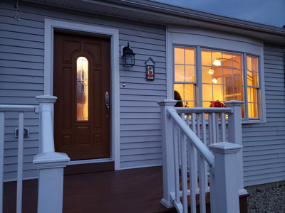 Custom Bay Window & Entry Door Update Essex Split-Level Ranch