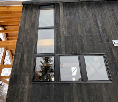 Contemporary Black Windows Complete Hinesburg Cabin