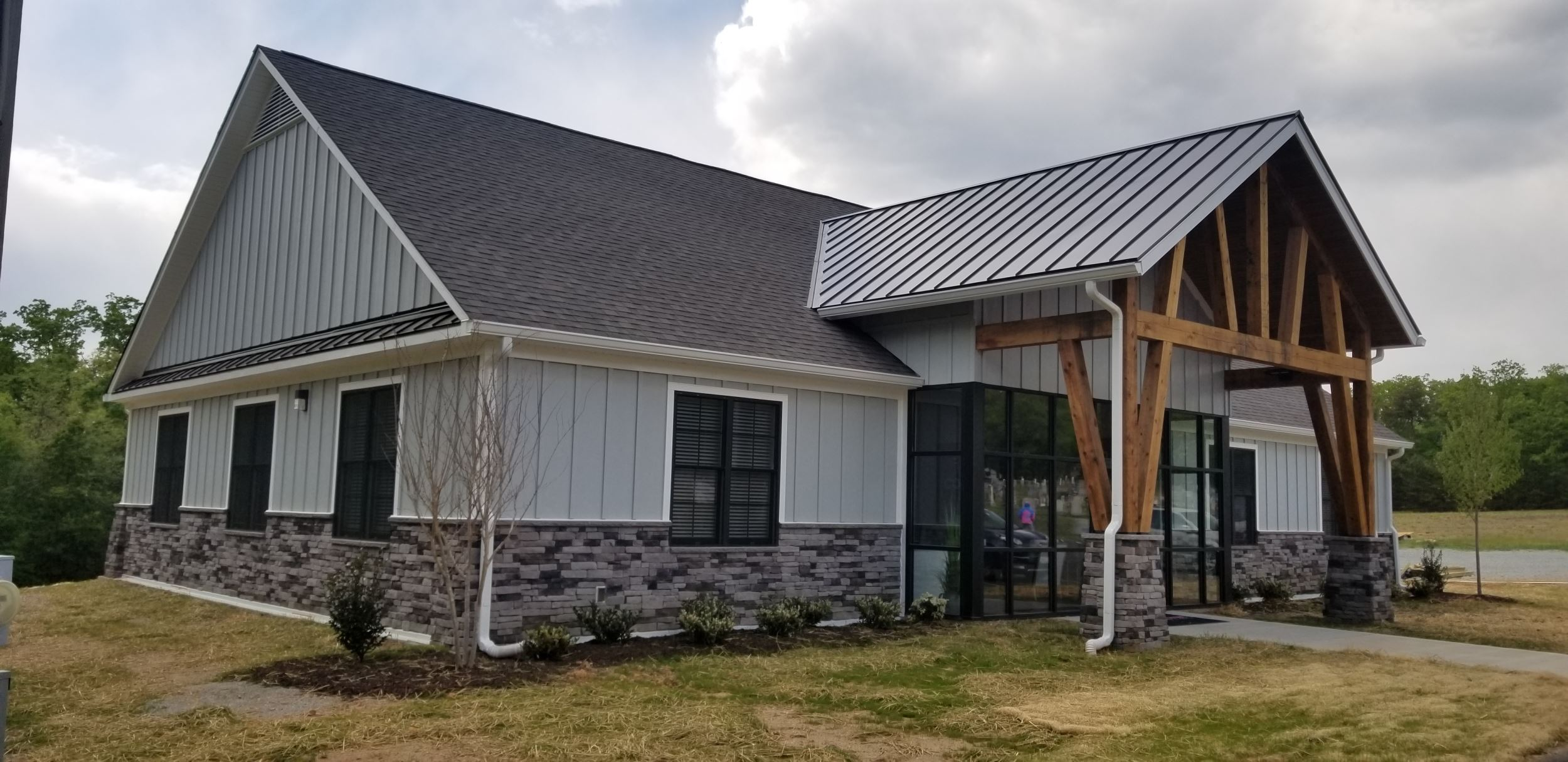 Architect Series Black Windows for Powhatan Church