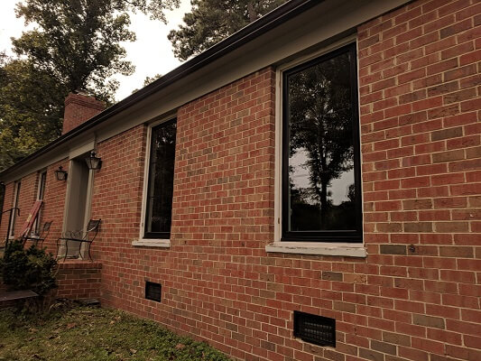 richmond home gets new wood casement windows side view