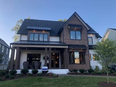 Black Windows Add Curb Appeal to Richmond City Home