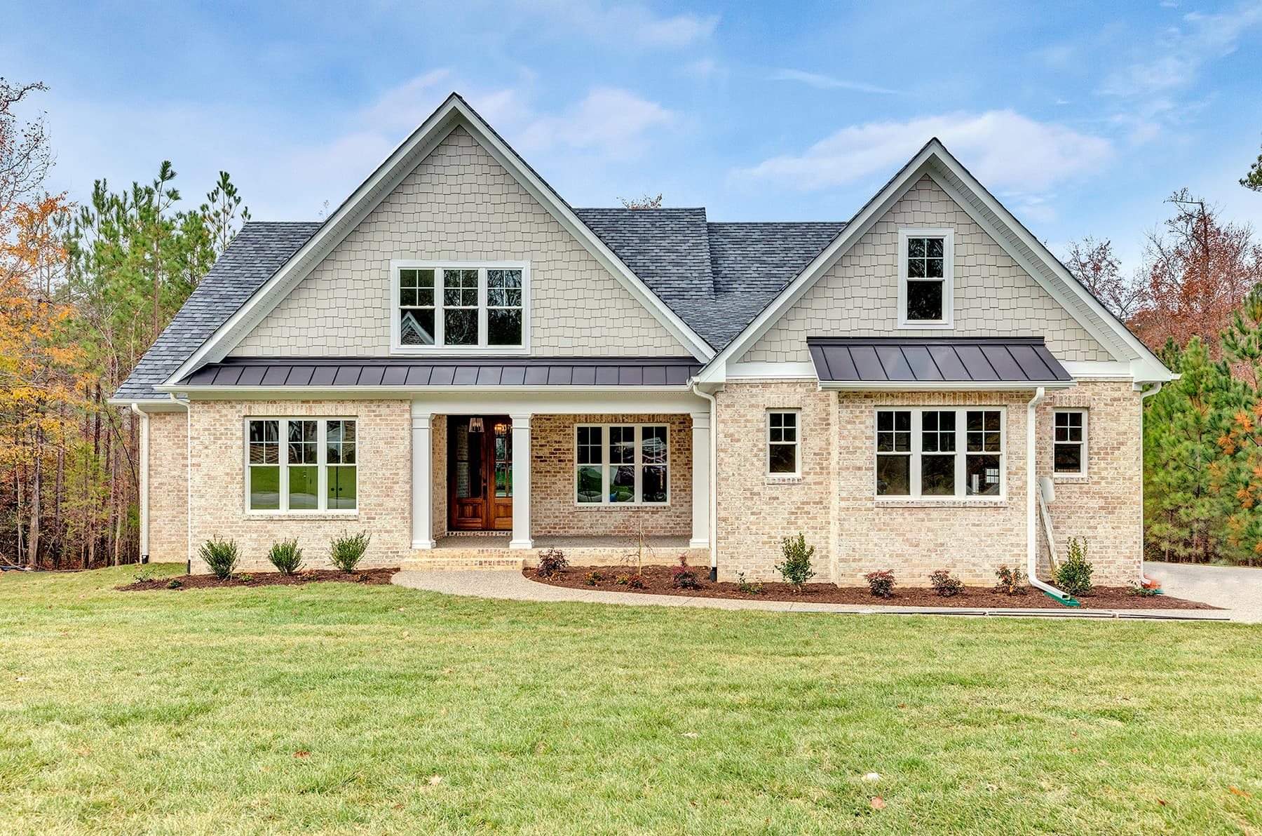 White Double-Hung Windows Provide Finishing Touch to New Richmond Home