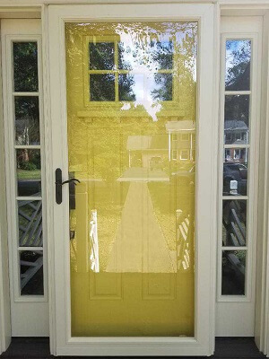 after image of virginia home with new yellow fiberglass entry door