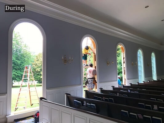 installation process on baptist church window replacement